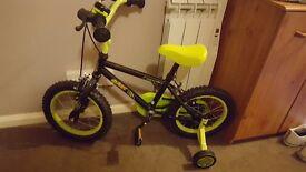 Boys age 2 -5 dinosaur bike with stabilisers