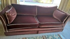 3 seater chocolate brown settee excellent condition