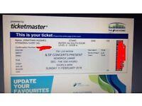 Kendrick Lamar. Standing ticket. SSE Hydro Glasgow. 11th February 2018.