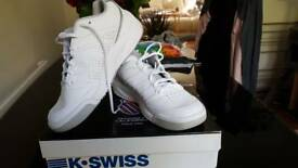 White K-Swiss Trainers- Size 5- New in Box