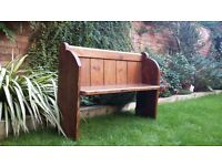Church pew - original pine, approx 6ft in length