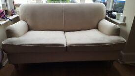 Cream 2 Seater Sofa (Made)