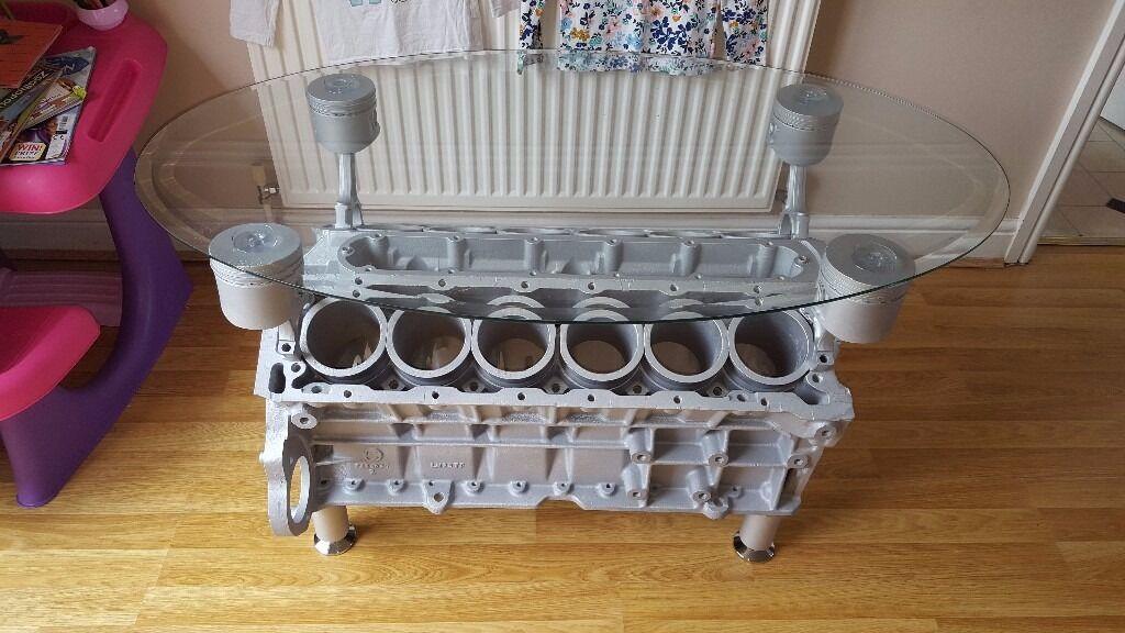 Jaguar Xjs E Type V12 Engine Coffee Table Wine Rack