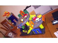 PEPPA PIG BIKE WITH STABILISERS...EVERLAST PUNCHBALL... ELC GARAGE ,SOUNDS ETC VARIOUS PRICES