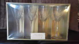 2 x Boxes of 4 Lead Crystal (24%) Wine Glasses/Goblets