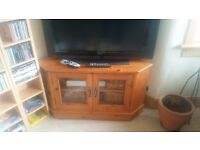 TV wooden corner unit.