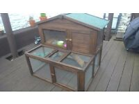 4ft Rabbit Hutch with run