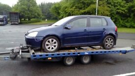 BREAKING VW GOLF MK 5, 2006 (56), 1.9 DIESEL, BLUE, ENGINE, BODY PANNELS AND MOST PARTS AVALAIBLE