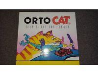 OrtoCat Self Serve Circular Cat Feeder Food/Treats Puzzle Game Toy ~ New