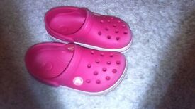 Crocs Kids Pink Size 8/9