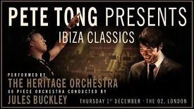 3 x seated tickets Pete Tong Ibiza Classics at the O2 - Thursday 1st December