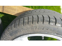 PART WORN TYRE 265 X 35 X 18 ACCELERA WITH ABOUT 4mmTREAD