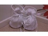 2 x White Bridal Bridesmaid Flower Girl Dolly Bag
