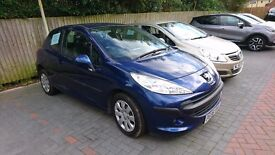 2008 PEUGEOT 207 1.4 VTI HPI CLEAR 33K MILEAGE WITH FULL SERVICE HISTORY BLUE 206 306 3008