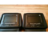 sony leather dvd player head rests