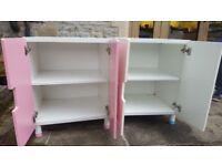 Pair of Ikea children's storage cupboards
