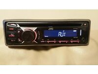CAR HEAD UNIT JVC CD MP3 PLAYER WITH USB IPOD READY AND AUXAUX 4 x 50 WATT STEREO AMPLIFIER AMP