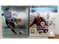 PS3 Fifa 14 limited edition steel book