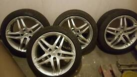 """17"""" x 8"""" momo alloys. 5 stud. Fit Volkswagen and Audi"""