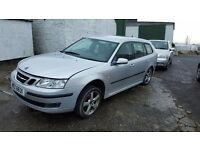 Saab 93 aeroback 2007 Mot'd to june, half leather interior, body work good apart from one dent