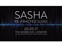 Sasha Tickets - re-Fracted LIVE Barbican London 20th May (one pair)