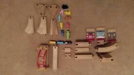 Wooden train set brio compatible