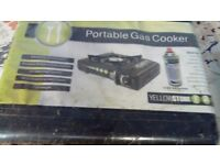 Portable Camping Gas Cooker -Yellowstone Stove Outdoor Picnics Barbecues BBQ