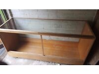 VINTAGE RETRO DUDLEY & CO OAK DISPLAY COUNTER CABINET GLASS HABERDASHERY