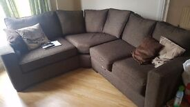 Luxury fabric corner sofa, 3 months old paid 1800 from camerons furniture.