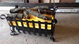 Electric Log Effect Fan Heater