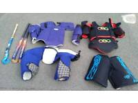 Obo hockey equipment all in used condition best to come and have a look l!can deliver or post!