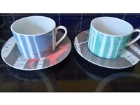 "Magpie ""wildlife"" cups and saucers"