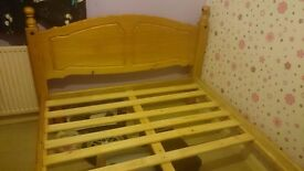 Solid wood double bed.. frame only