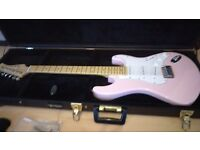 Shine baby pink electric guitar, immaculate condition