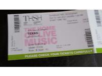 2x Tickets for Texas at Symphony Hall, Birmingham 01 Oct 17