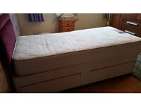 Single Bed with drawers, in good, clean condition. FREE to collect.