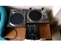 2 x Sony PS-DJ9000 direct drive turntables and a Behringer NOX101 mixer.