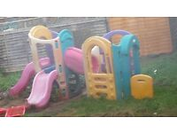 little tikes play set with slides