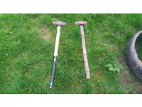got 2 sledge hammers for sale need gone asap