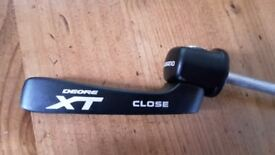 New Shimano Deore XT quick release (QR) skewer for rear wheel
