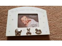 Unused photo frame for newborn