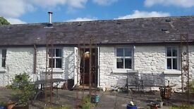 Coach House a Cosy Country stone cottage near Carmarthen. Woodburner, fabulous views of Estuary