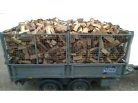 Seasoned firewood logs from £43 a cubic meter, amazing value sticks, cut split and ready to burn NOW
