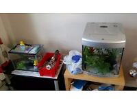 2 fish tanks with all accesories £45 for the 2