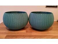 Keter knit cozies plant pots
