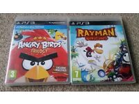 2 games Playstation 3 RAYMAN Origins ANGRY BIRDS Trilogy
