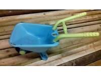 Blue ELC wheel barrow