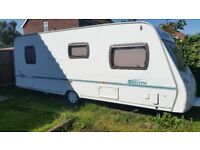 Lunar Zenith 6 Touring Caravan (2004) - 6 Berth inc Full & Porch awnings & accessories £4350 OVNO