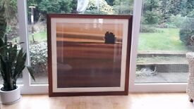 1M x 1M PRINT WITH BRONZE FRAME - EXCELLENT CONDITION