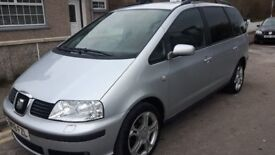 2008 seat alhambra stylance facelift 2.0 tdi diesel , full service 7 seater
